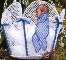 freestanding lace baby basket