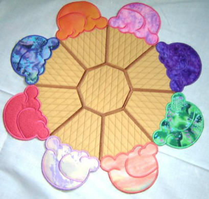 ice cream doily
