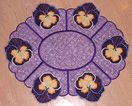 Pansy Oval Placemat