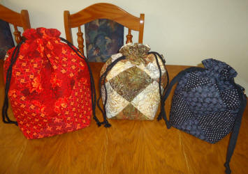 drawstring bag quarter inch quilt set