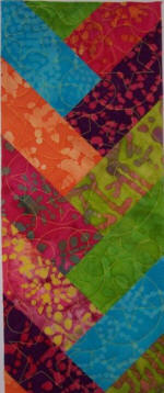 150x360 friendship braid quilt panel