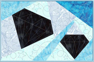 two diamonds with star quilting