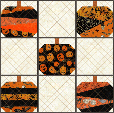 pumpkin quilted project