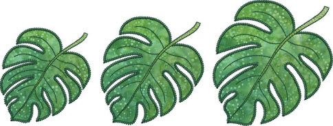 monster leaf applique designs