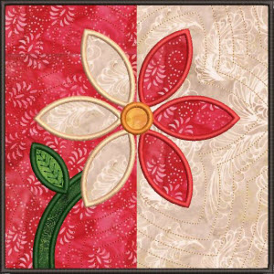 summer flower quilted applique squares