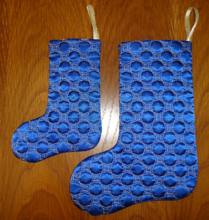 Christmas Stocking Decorative Quilting two sizes