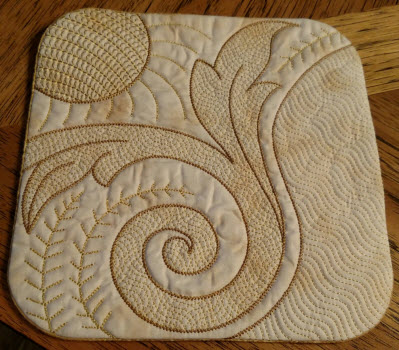 blackwork decorative pot holder