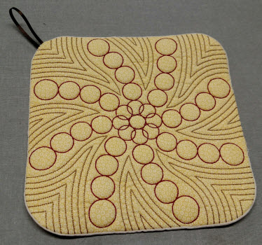 decorative embroidery pot holder