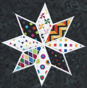 8 point star applique
