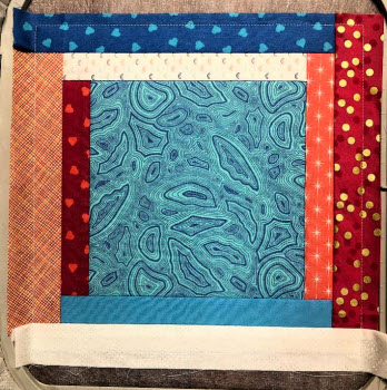 log cabin square 10.7x10.7 inches