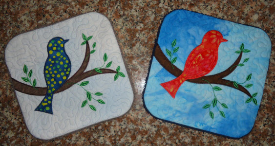 applique bird trivet