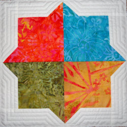 double square star quilt four squares