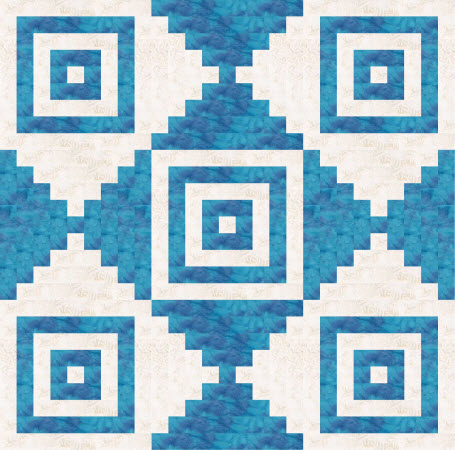 court house steps quilt example blue